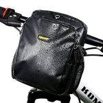 Rhinowalk Imperméable Sacoche pour Vélo sur Guidon, Comprend une bandoulière détachable et Housse De Pluie, 3L, Noir de la marque image 2 produit