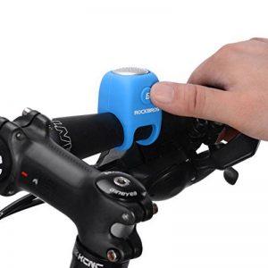 Rockbros Sonnette de Vélo adulte électronique Mini cloche VTT IPX4 étanche élastique E-bell Coque en Silicone Gel Bell 90dB de la marque image 0 produit