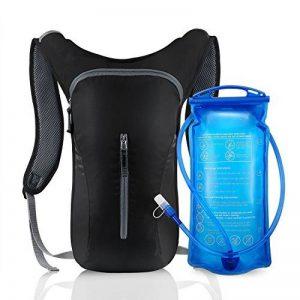 Sac à dos d'hydratation Ultra léger Sac à dos de cyclisme Eau Sac avec poche à eau 2L pour l'escalade Camping (Bleu/noir) de la marque image 0 produit