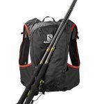 Salomon, SKIN PRO 15 SET, Sac à dos léger 15 L (Taille unique) pour la course à pied et la randonnée pédestre ou à vélo, 40 x 18 x 17 cm, Noir/Rouge, L37996200 de la marque image 3 produit