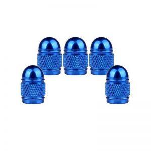 SENZEAL 5pcs Bullet Pneu Bouchons de Valve en Alliage D'aluminium Bouchons de Poussière Bleu de la marque image 0 produit