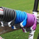 SunJas antivol neuf pour vélo et motos cadenas antivol 120 cm Code numérique sécurité chaîne Antivol numérique en spirale 1200 mm de la marque image 4 produit