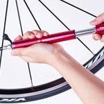 Super Mini pompe pour vélo de route par Pro Vélo Outil–Haute Pression–120PSI–fiable, Compact et léger–Compatible Presta et Schrader–de qualité supérieure & Performance–Idéal pour BMX et pour pneus de vélo rouge Rouge de la marque image 2 produit