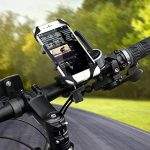 Support Telephone Vélo, Bukm Universel Ajustable Support Guidon de vélo, 1 Bande de Silicone, Rotation de 360 Degrés Support Telephone Moto pour Mobile Phone GPS, iPhone 7/6 Plus/6S/6/5S/, Samsung Galaxy S6 / 5/4/3 etc de la marque image 5 produit