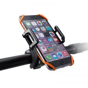 Support vélo du guidon TaoTronics pour Smartphone, GPS et autres appareils (se détache en un seul clic, rotatif à 360, bracelet en caoutchouc)Support téléphone vélo Noir [Amélioré] de la marque image 0 produit