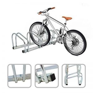Todeco - Râtelier Familial pour Vélo, Support de Rangement Vélo - Dimensions: 132 x 32 x 26 cm - Type d'installation: Support mural - Peut contenir 5 vélos de la marque image 0 produit