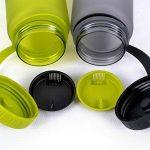 TOFERN Bidon Tritan Silicone Sans BPA Sport Multifonction Pour Randonnée Vélo Camping 1L/650ml/550ml/500ml/350ml rose/vert/bleu/gris de la marque image 1 produit
