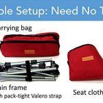 Trekology Portable Compact Chaise de camping avec hauteur réglable–ultraléger backpacking Chaise dans un sac pour le camping, la pêche, pique-nique, terrasse, Sports, événements, de la marque image 5 produit