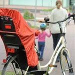 Trockolino Housse de pluie pour siège enfant de vélo et selle Noir de la marque image 2 produit