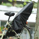 Trockolino Housse de pluie pour siège enfant de vélo et selle Noir de la marque image 4 produit