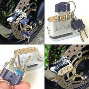 """""""Unpickable"""" antivol à 2 clés pour moto Scooter cyclomoteur Verrou de frein à disque de la marque image 0 produit"""