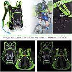 Vbiger Sac à dos d'Hydratation Tactique avec poche à eau pour Cyclisme Randonnée Running (Vert, 2L (poche à eau)) de la marque image 3 produit