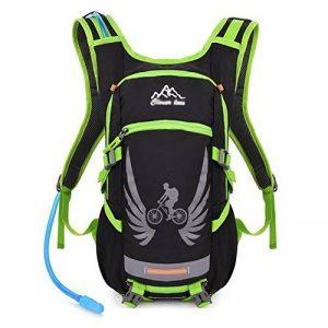 Vbiger Sac à dos d'Hydratation Tactique avec poche à eau pour Cyclisme Randonnée Running (Vert, 2L (poche à eau)) de la marque image 0 produit