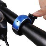Vélo Bell, Zoegate invisible Sonnette de vélo en aluminium, Sonnette de vélo Mini Cyclisme Vélo Corne Anneau Bell pour n'importe quel Vélo, Corne Accessoires classique durable Net Loud Mode Q Motif de la marque image 2 produit