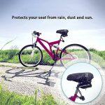 Vélo Housse de siège imperméable protégé contre la poussière Fucnen Selle de vélo Housse de pluie Housse de protection pour vélo de montagne Vélo de course Cadeau idéal pour cyclisme Lot de 2(Noir) de la marque image 5 produit