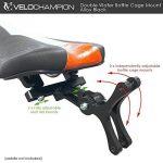 VeloChampion Double support pour porte-bidons Alliage noir pour velo de route et de triathlon Double Bottle Cage Mount de la marque image 4 produit