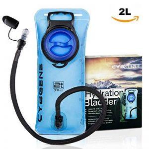 Vessie d'hydratation, réservoir d'eau de 2 L de CybGene® avec couvercle antifuites à large ouverture et couvercle de tube d'isolation. Pour la randonnée, le vélo et l'escalade. de la marque image 0 produit