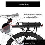 Vélo Porte Bagage, Universel Transporteur Porte bagages arrière de vélo bicyclette accessoires Équipement Vélo Racks avec Réflecteur pour de Longues de Cyclisme de la marque image 2 produit