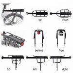 Vélo Porte Bagage, Universel Transporteur Porte bagages arrière de vélo bicyclette accessoires Équipement Vélo Racks avec Réflecteur pour de Longues de Cyclisme de la marque image 4 produit