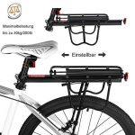 Vélo Porte Bagage, Universel Transporteur Porte bagages arrière de vélo bicyclette accessoires Équipement Vélo Racks avec Réflecteur pour de Longues de Cyclisme de la marque image 1 produit