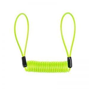 WINOMO Câble de Rappel d'antivol pour Bloque Disque Moto Vélo 1.2 M (Vert Clair) de la marque image 0 produit
